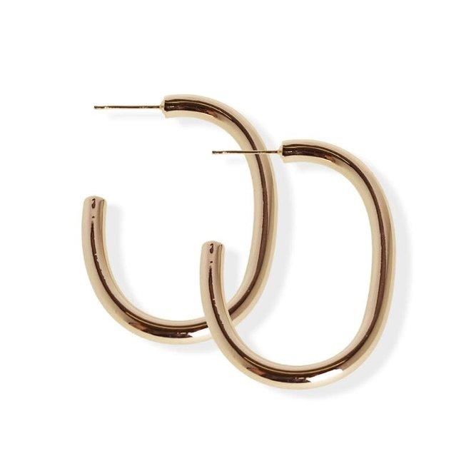 Boucles d'oreilles anneaux larges C - Laiton plaqué