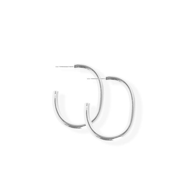 Boucles d'oreilles anneaux petits C - Laiton plaqué