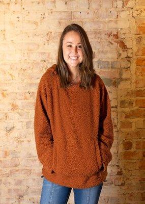 Kori America Rust  sherpa pullover - Anna May