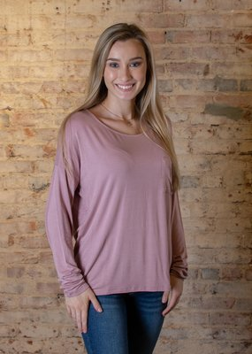 HYFVE Basic wide neck tee with pocket - Haley