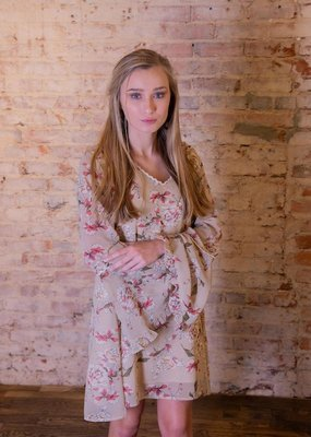 Kori America Floral 3/4 Sleeve Dress - Daisy