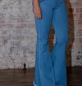 Judy Blue High waist light denim super flares - Prudence