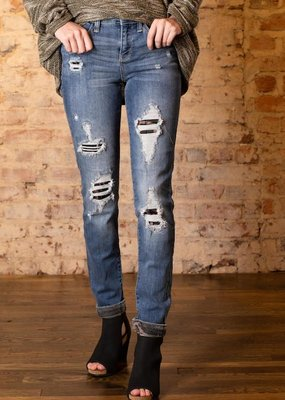Judy Blue Camo patch skinny jeans - Willadeene