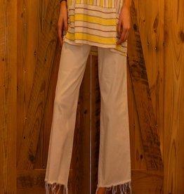Judy Blue High Waist white crop flare jeans - Scottlyn