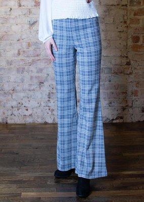 UmGee High Waist check print flare pants - Maisie