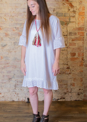 Jodifl White eyelet ruffle layer dress - Candice