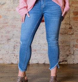 Judy Blue Mid rise tulip front hem skinny jeans - Sienna