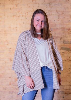 Easel Margate ruffle plaid kimono - Lexie