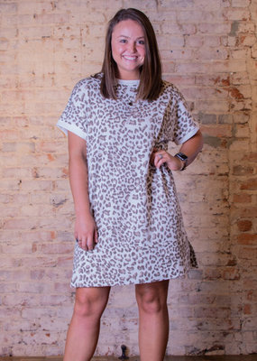 Jodifl Leopard Print Tee Dress - Belle