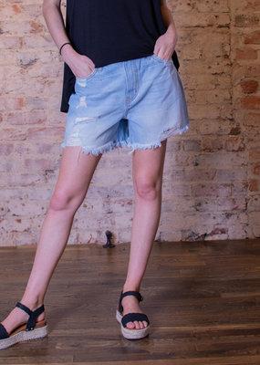 Kancan Distressed light denim shorts - San Francisco