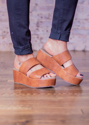 Corkys Chic wedge that has two straps - Shamrock