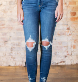 Judy Blue Mid-rise destroyed skinny jeans - Austin