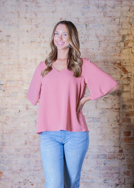 Mittoshop Air flow flutter sleeve blouse - Dearie