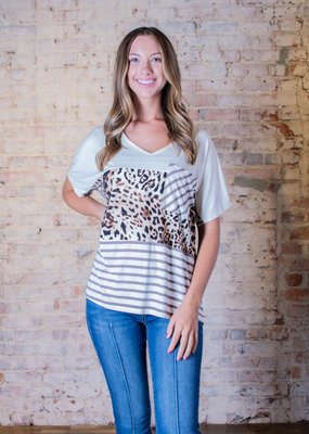 Entro Striped and Contrast Leopard - Carma
