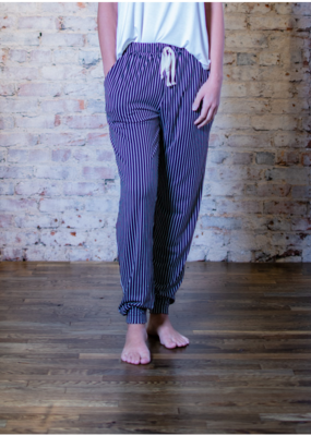 Mittoshop Vertical Pin Stripped Joggers - Ethel