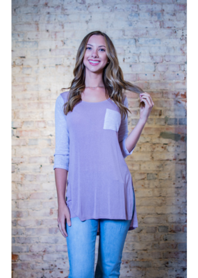 L Love Lavender Hi-Lo Knit Top - Neely