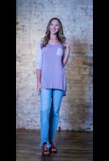 L Love Neely - Lavender Hi-Lo Knit Top