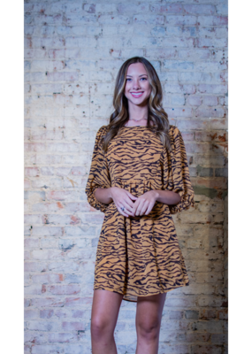 L Love Tiger Print Smock Dress - Lula Mae