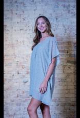 Entro Ethelyn - Cheetah Print V-neck Dress