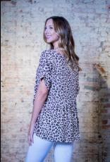 Entro Joetta - Leopard V-neck Babydoll Top