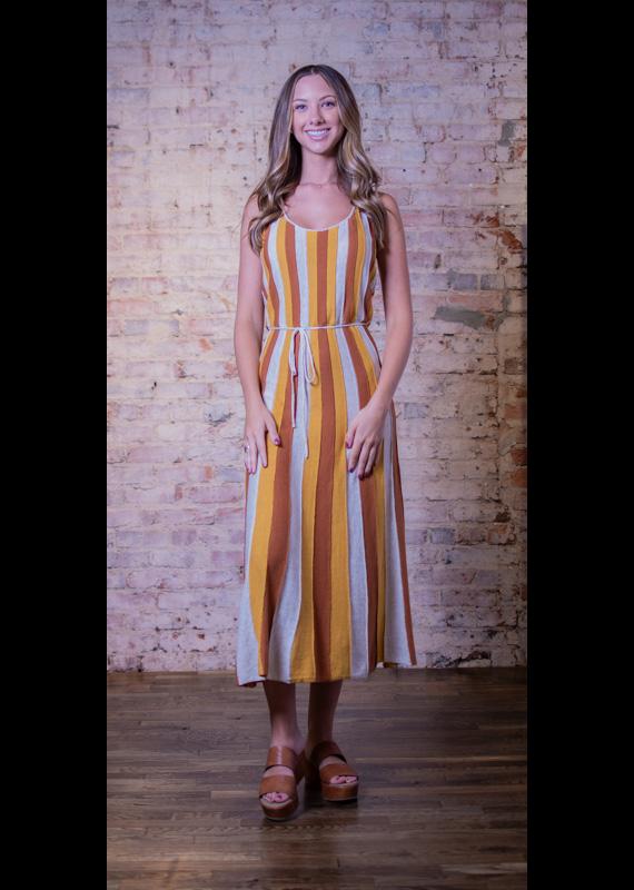 Very J Striped Scoop Neck Tank Maxi Dress - Neva
