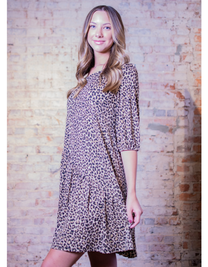 Mittoshop Rannie Leopard 3/4 Sleeve Dress