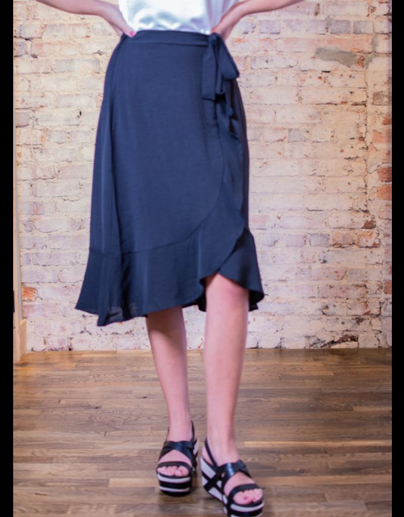 Mittoshop Ruby Black Ruffle Wrap Skirt