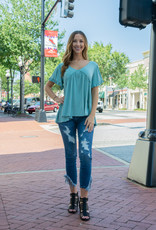 Judy Blue Palm Springs - Asymmetric Frayed Hem Skinny Jeans