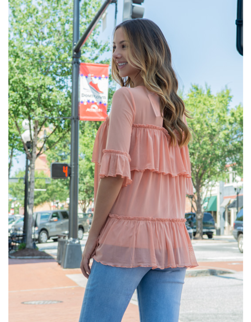 Doe & Rae Trula - Layered Ruffle with Cut Out Back