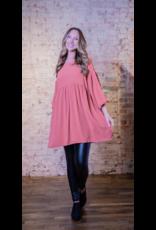 Entro Dollie - Round Neck Puff Sleeve Dress
