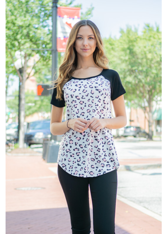 A.gain Animal Print with Contrast Top  - Summer