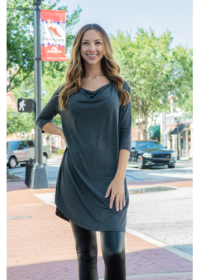 A.gain Solid 3/4 Sleeve Dress - Roxie