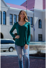 Mittoshop Onie - Bamboo Long Sleeve V-Neck Tee