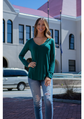 Mittoshop Bamboo Long Sleeve V-Neck Tee - Onie
