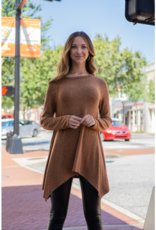 Jodifl Suzy - Marled long sleeve w/asymmetrical hem