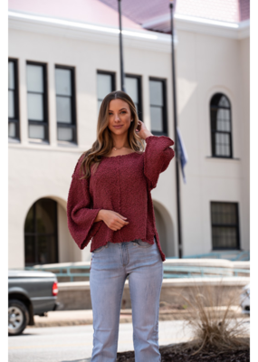 Entro Shaggy Scoop Neck Sweater - Dolly