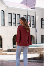 Entro Dolly  - Shaggy Scoop Neck Sweater