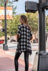 Jodifl Savannah - Black/White checkered top w/elbow patches