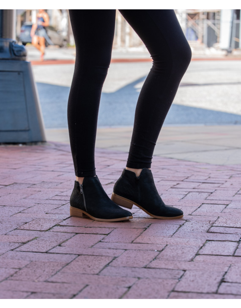 MIA Cam Faux Suede Zip Up Ankle Booties