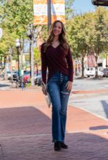 Mittoshop Serena - Surpliced Sweater DK Cherry