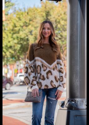 Mittoshop Eyelash Leopard Sweater -Mellie