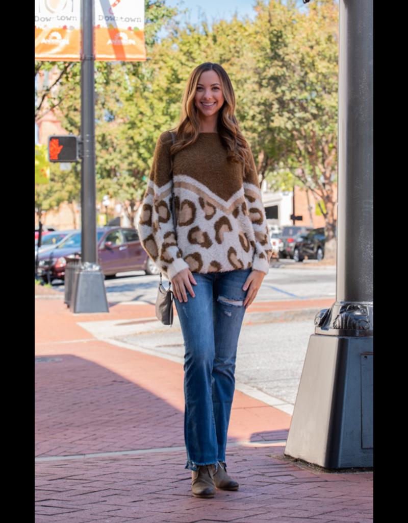 Mittoshop Mellie - Eyelash Leopard Sweater
