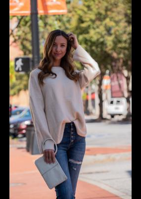 Main Strip Round Neck Oversized Sweater - Zera