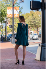 Entro Excelia - Hunter Green Scoop Neck Ruffle Dress