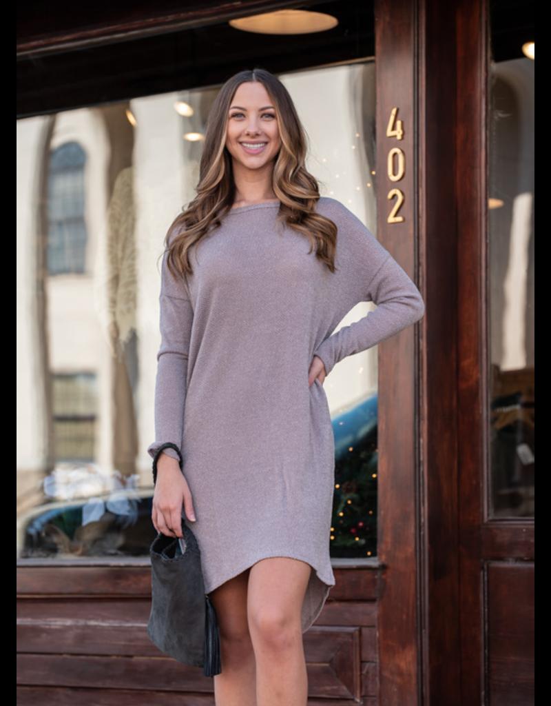 Mittoshop Tipper -French Terry Hi-Lo Hem Knit Dress