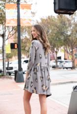 Entro Leopard Print Babydoll Mini Dress - Monnie