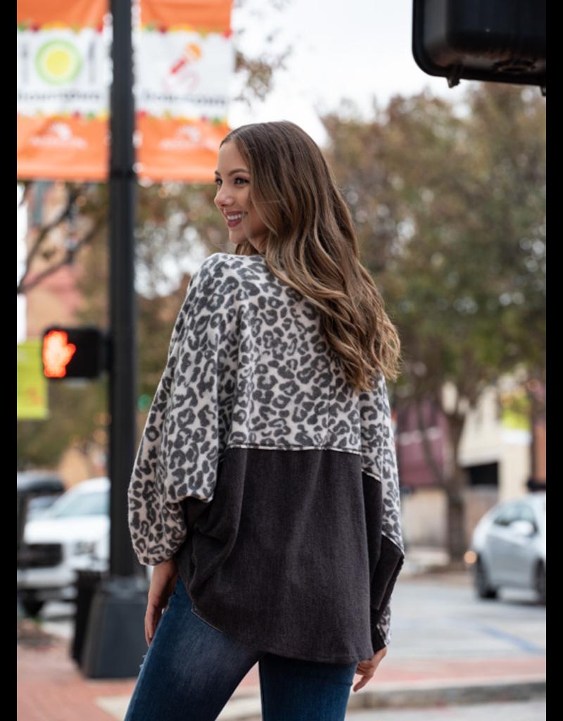 Entro Leopard Cocoon Cardigan  - Mercedes