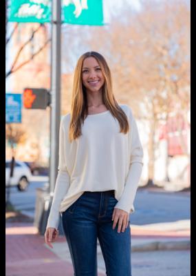 L Love Cream Dolaman Sleeve Sweater - Eve