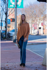Entro Lovely Scoop Neck Knit Top - Tennie