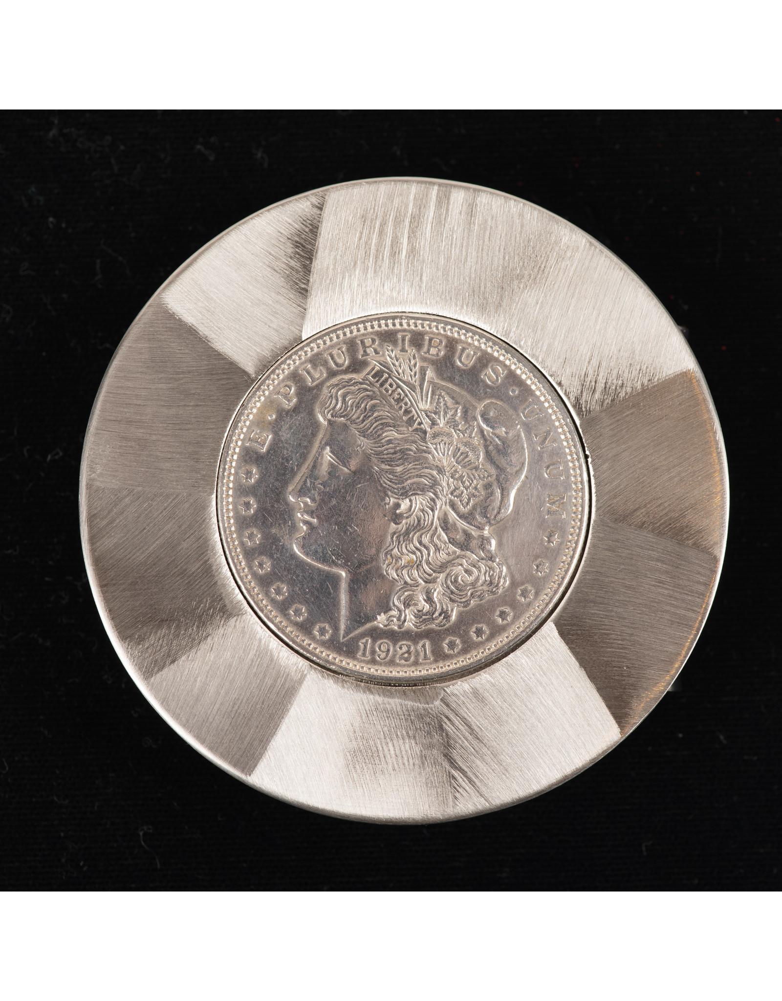 Morgan Silver Dollar Round Belt Buckle